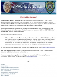 BLUE MONDAY: Support Our Officers
