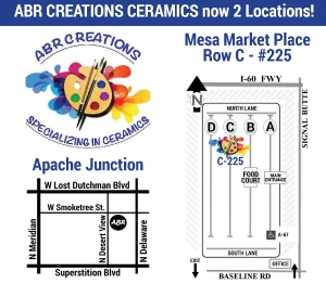 ABR Creations Ceramics Studio at Mesa Market 480-568-9296