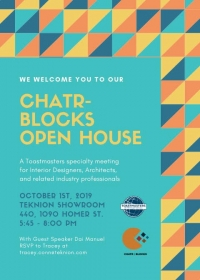 CHATR-BLOCKS Toastmasters Open House