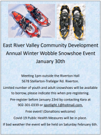 ERVCDA Winter Wobble Snowshoe Event