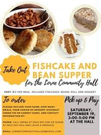 Lorne Community Hall Fishcake & Bean Supper