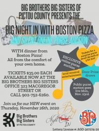 Big Brothers Big Sisters Big Night In with Boston Pizza