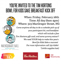 The Big Brothers Big Sisters Tim Hortons Breakfast Kick Off