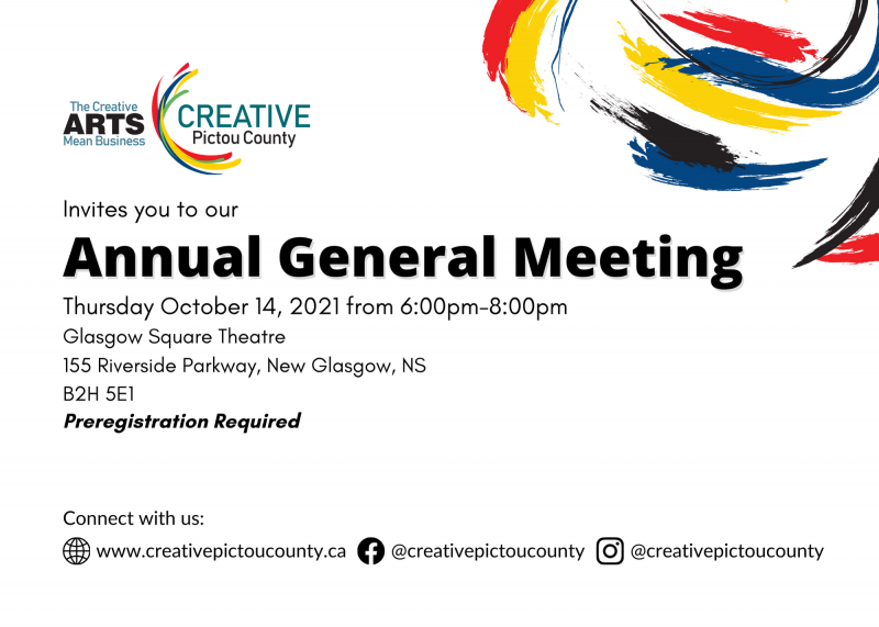 Creative Pictou County 2021 Annual General Meeting