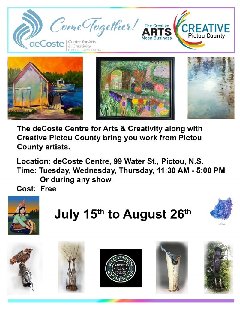 Creative Pictou County's Art Show at the deCoste