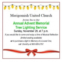 Annual Advent Memorial Tree Lighting Service